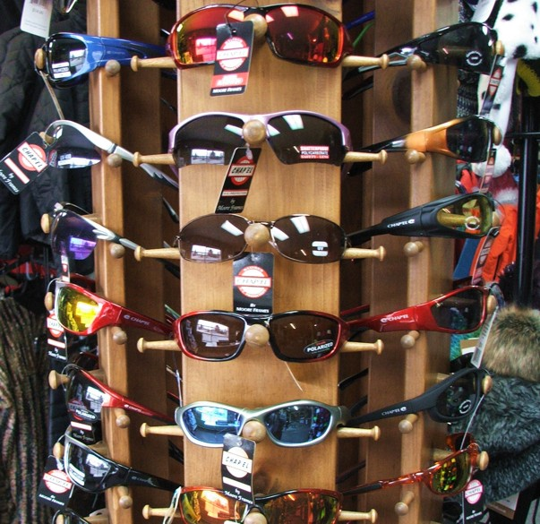 Sunglasses on Display